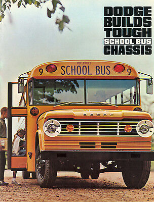 1966 Dodge School Bus Chassis Brochure A100/D100/S400/S500/S550/S600 7/65