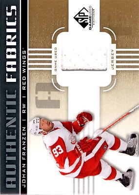 2011-12 SP Game Used Authentic Fabrics Gold Jersey Johan Franzen I D BX 406Y