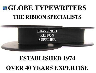 Silver Reed Silverette Ii *black* Top Quality 10 Metre Typewriter Ribbon+Eyelets