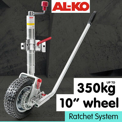 ALKO 10in RATCHET JOCKEY WHEEL CARAVAN TRAILER  CAMPER BOAT SWING UP MOVER