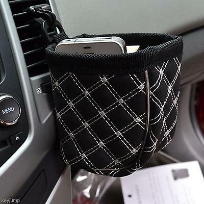 New White Line Car Air Vent Outlet Sundries Phone Drink Storage Bag Pouch Pocket