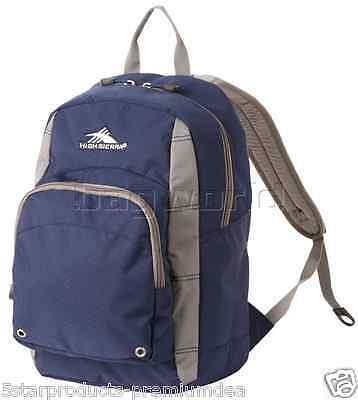 NEW High Sierra Impact Backpack NAVY Daypack, bookbag nwt excellent for school