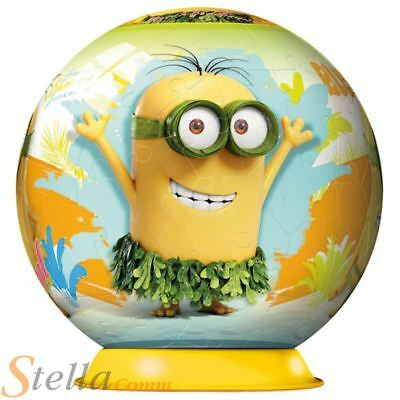 Despicable Me Minions 72 Piece Puzzle Ball 13cm 3D Jigsaw & Stand