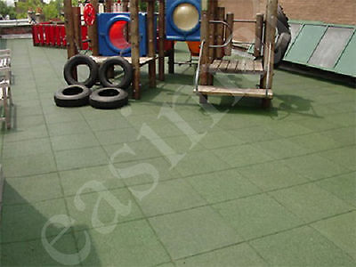 Rubber Safety Tiles Heavy Duty Playground Swing Slide Play Area Outdoor Mats
