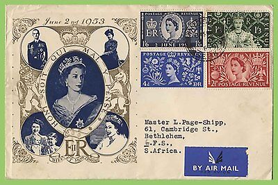GB 1953 QEII Coronation set on Portrait Illustrated First Day Cover Windsor cds