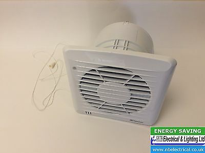 "Xpelair 6"" Slimline Fan Humidistat + Timer Sl150Ht With Pull Cord"