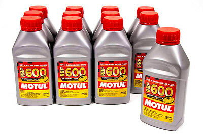 Motul Rbf 600 Racing Brake Fluid Lot (12) Case 100949-12 Exceeds Dot4 Synthetic