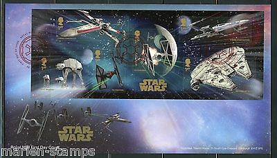 Great Britain  2015  Star Wars  Souvenir Sheet First Day Cover