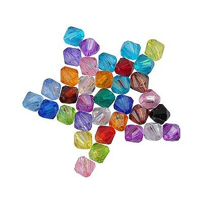 Wholesale Acrylic 4/6/8/10mm Clear Spacer Loose Bicone Beads DIY Jewelry
