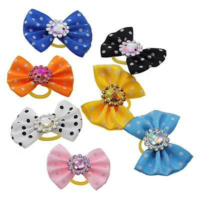 5pc Chic Design Handmade Pet Bow Tie Dog Cat Grooming Hair Clip Hairpin Supplies