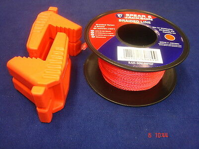 Pair of Spear & Jackson Bricklayer's Rubber Line Blocks & Line Orange