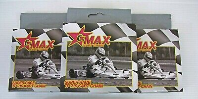 X3 / Pack Of 3 / 98 - 116 Link 219 G-Max Super Race TP Kart Chain - Cadet X30