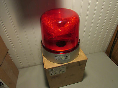 Star Rotating Light Model 400A Red 24 VDC New!