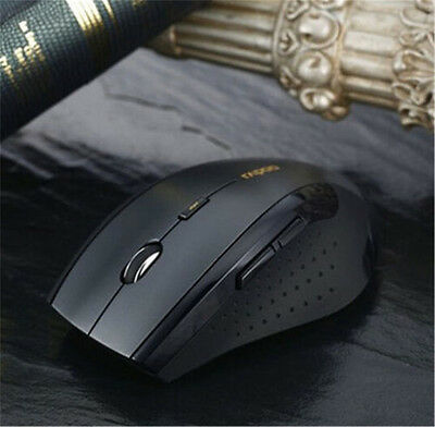 2.4GHz USB Wireless Optical Gaming Mouse 1600DPI Mice For Laptop Desktop PC ON