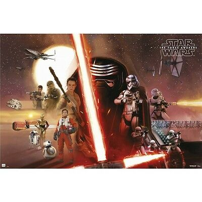 STAR WARS The Force Awakens Movie Poster - Cast Full Size 24x36 - Kylo Ren