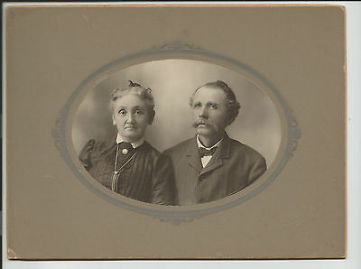 Antique Victorian Edwardian Man Woman Necklace Cabinet Card Photo Ottawa c27