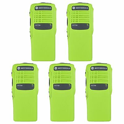 5x Green Replacement Repair Kit Case Housing for Motorola HT750 Portable Radio