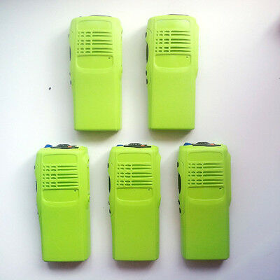 5x Green  Replacement Repair Case Housing for Motorola GP328 Portable Radio