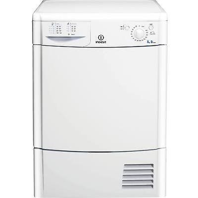 Indesit IDC8T3B 8kg 2 Temps with Reverse Action Condenser Tumble Dryer in White