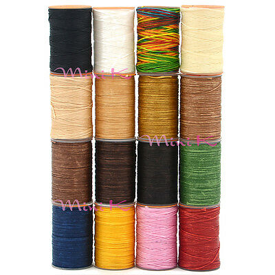 0.8mm 60m Waxed Thread Leather Craft Polyester Cord Sewing Stitching Bracelet