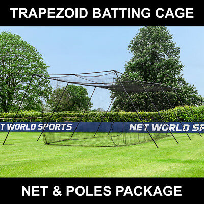 FORTRESS Trapezoid Baseball Batting Cage [Complete Package] - [70ft]