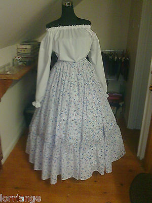 Victorian  Civil War Theater Very Full Floral Skirt