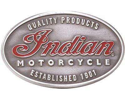 New Indian Motorcycle High Quality Emblem Belt Buckle Imc Script Logo 1901 Metal