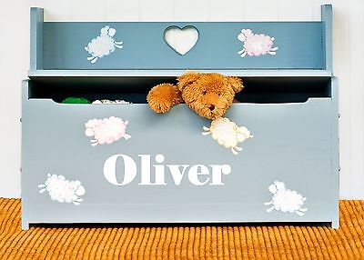 Boys or Girls Personalised Name Sticker / Decal for Toy Box or Bed Head or Chest