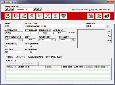 Perennial Point of Sale POS Software. Windows (PC)