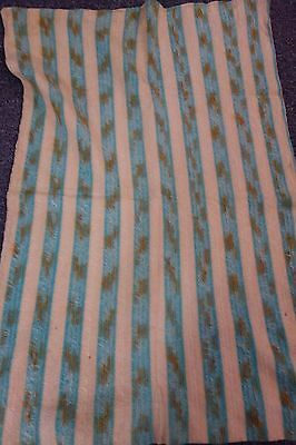Edwardian Baby Blanket -28x40- Turquoise & Cream Top/Brown & Cream Back- SALE