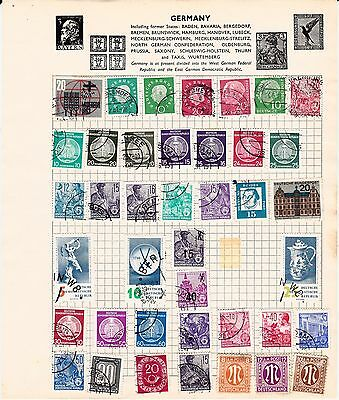 GERMANY  OLD STAMP Collection USED REF:QB173