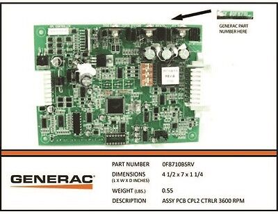 GENERAC GENERATOR PARTS 83089 New Old Stock Assy PCB Control