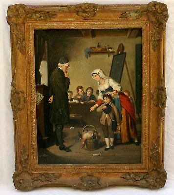Magnificent 19 C Italian Oil On Canvas  Painting By Grilotti Listed Artist