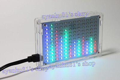 Crystal Castles LED Music Spectrum Display Level indicator light electronic Kits