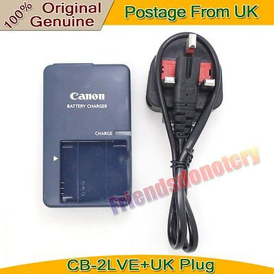 Genuine Original Canon CB-2LVE NB-4L Battery Charger for IXUS75 SD750 SD1100