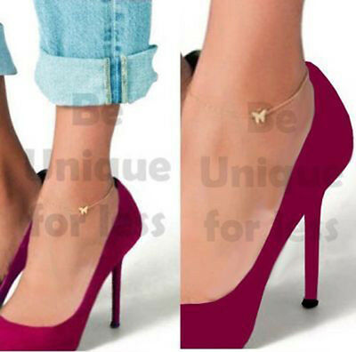 Simple Elegant Butterfly Row Anklet Foot Chain Butterfly Anklet Ankle Bracelet