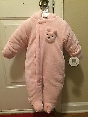 ec75e9872e29 ABSORBA BABY GIRL Fuzzy Plush Snowsuit 3-6mo -  18.00