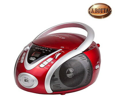 Radio Stereo Portatile Rossa Trevi CMP542 USB CD Mp3 - AM/FM