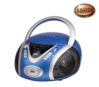 Radio Stereo Portatile Blu Trevi CMP542 USB CD Mp3 - AM/FM