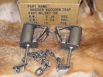 2- BRIDGER T-3 DP DOGPROOF RACCOON TRAPS   NEW SALE trapping