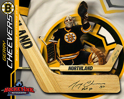 GERRY CHEEVERS Signed Northland Goalie Stick - Boston Bruins