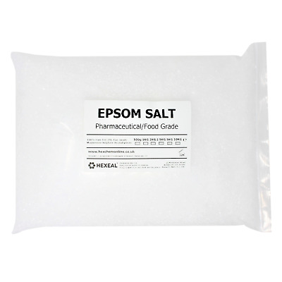 EPSOM BATH SALTS | 5KG BAG | Pharmaceutical | Food Grade | Magnesium Sulphate