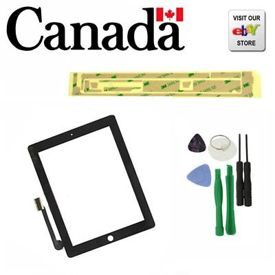 Black New Replacement Touch Screen Glass Digitizer for Apple iPad 3 + Free Tools