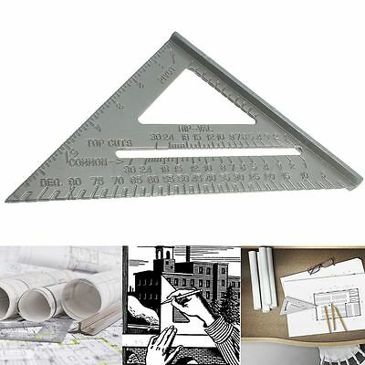 6'' Aluminum Alloy Square Protractor Miter Framing Triangle Ruler Measuring Tool