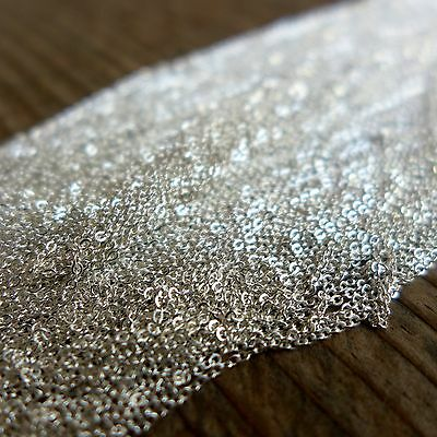 925 Solid Sterling Silver,1m,1.1mm Flat Cable Unfinished bulk Chain,DIY Craft
