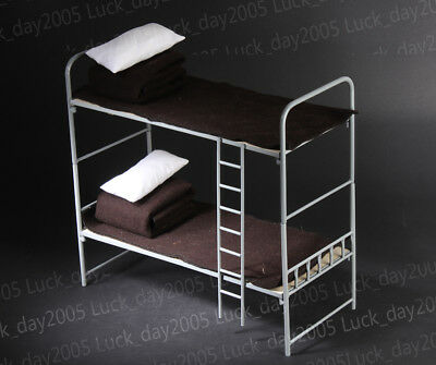 "Toy Model WWII German 1/6 Scale Metall & Hölzern Bunk Bed Fit for 12"" figuren"