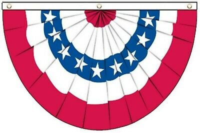 United States of America USA Style Pleated Fan Flag Bunting 5'x3' Flag !