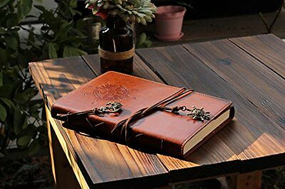 Valery Classic Leather Notebook Refillable Vintage Writing Journal Diary Lined