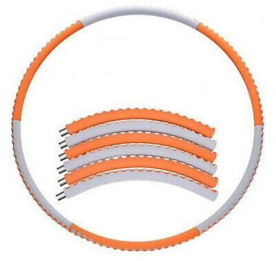 NEW HULA HOOP FITNESS EXERCISE ABS WORKOUT GYM PROFESSIONAL WEIGHTED (Orange))