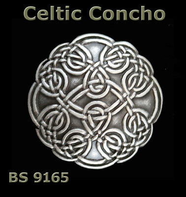 Lot Of 6 Bs 9165 Saddle Antique Silver Screw Back Celtic Conchos 1-1/8 Inches